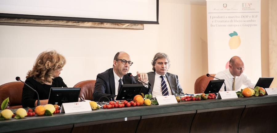 Libero scambio Italia-Giappone, al lavoro per l'export dei prodotti freschi a Igp