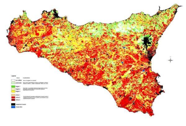 Sicilia Aree sensibili alla desertficazione