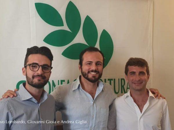 da sinistra Salvo Lombardo, Giovanni Gioia e Andrea Giglia