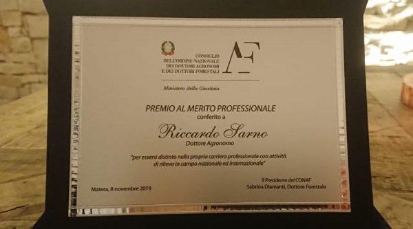 premiato Riccardo Sarno