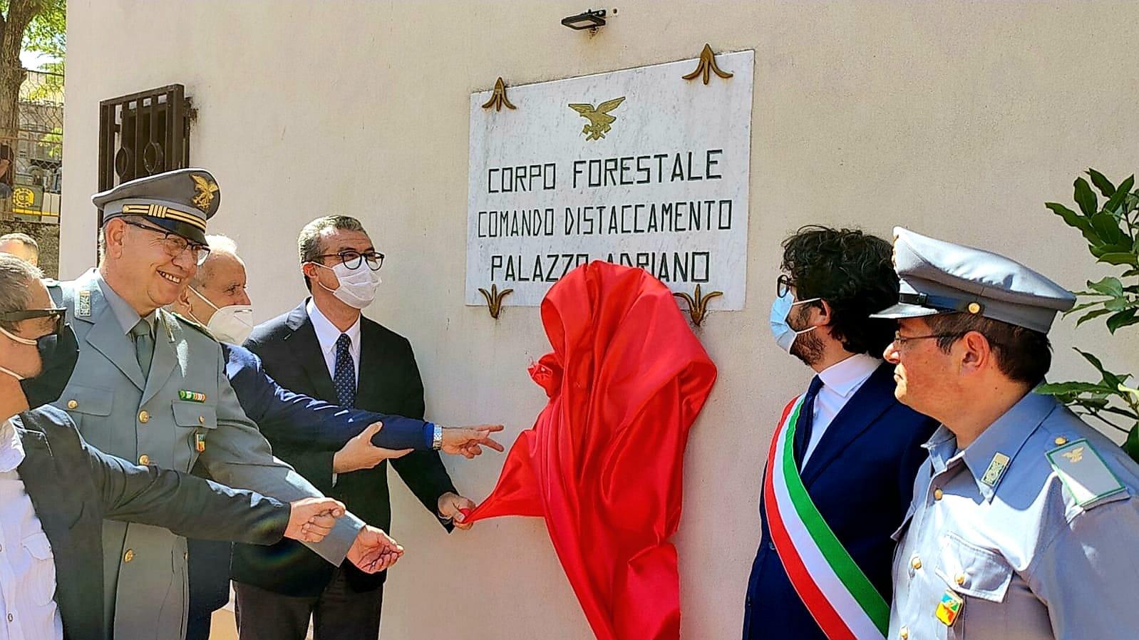 Corpo forestale della Regione, Cordaro inaugura il distaccamento di Palazzo Adriano