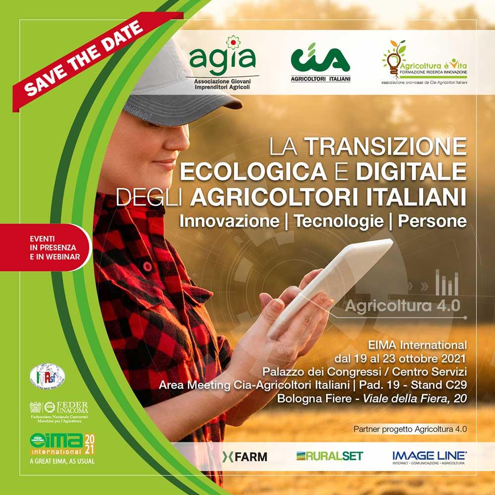Cia e i suoi giovani a EIMA International 2021: la transizione ecologica e digitale degli agricoltori italiani